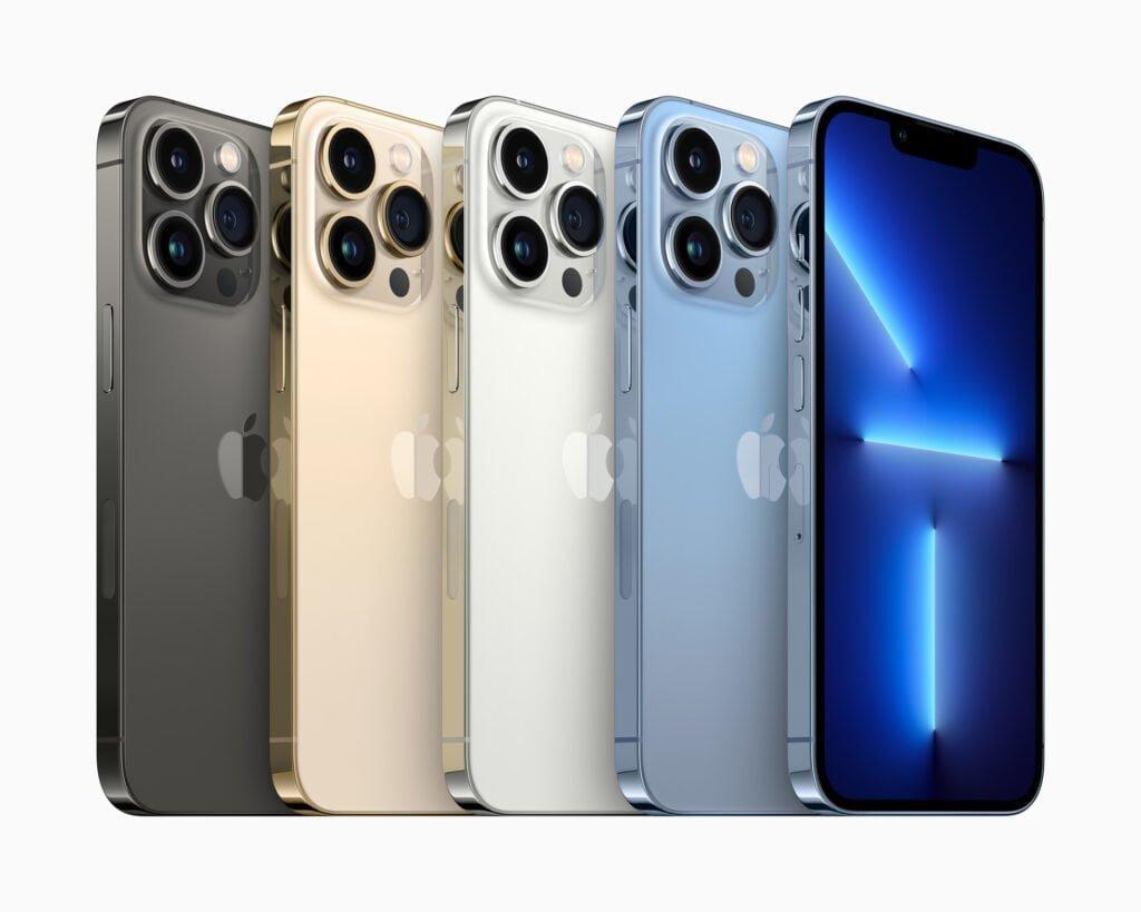 iPhone 13 Pro lineup efterår 2021